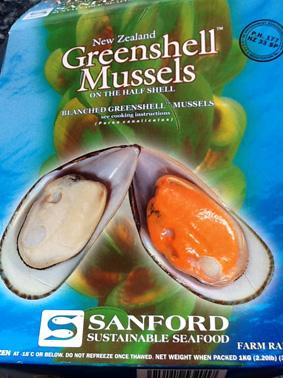 frysta gröna musslor